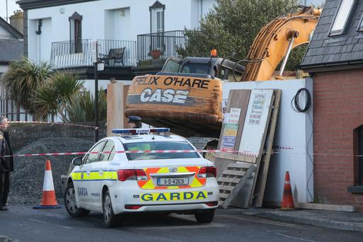 The scene of the fatal accident at Harbour Road, Skerries. Picture; Colin O'Riordan