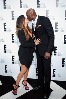 Khloe Kardashian and Lamar Odom 2012 'E' upfront presentation - Arrivals Featuring: Khloe Kardashian and Lamar Odom Where: New York City, United States When: 30 Apr 2012 Credit: WENN