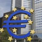 European Central Bank (ECB) headquarters in Frankfurt, Germany. The ECB says 13 of Europe's 130 biggest banks have failed an in-depth review of their finances and must increase their capital buffers against losses by €10 billion. Permanent TSB was the only Irish bank to fail the stress tests after the ECB found a €854.8m hole in its reserves.