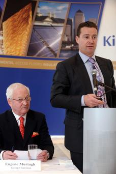 Pictured are Eugene Murtagh and Gene Murtagh, CEO, Kingspan Group plc