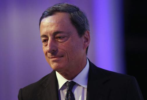 Irish shares were down yesterday after ECB president Mario Draghi's comments
