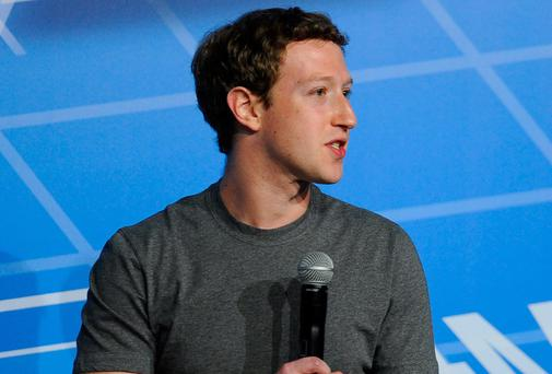 Mark Zuckerberg speaks during his keynote conference as part of the first day of the Mobile World Congress 2014