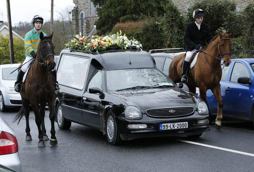 The funeral took place on Monday at Murroe, Co. Limerick of Ryan Cusack(17)