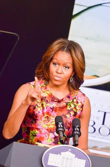 "First Lady Michelle Obama speaks during a screening of ""The Trip To Bountiful"" at the Eisenhower Executive Office Building on February 24, 2014 in Washington, DC. (Photo by Kris Connor/Getty Images)"