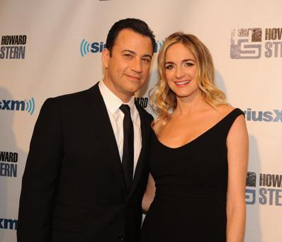 Jimmy Kimmel and wife Molly McNearney (Photo by Bobby Bank/WireImage)