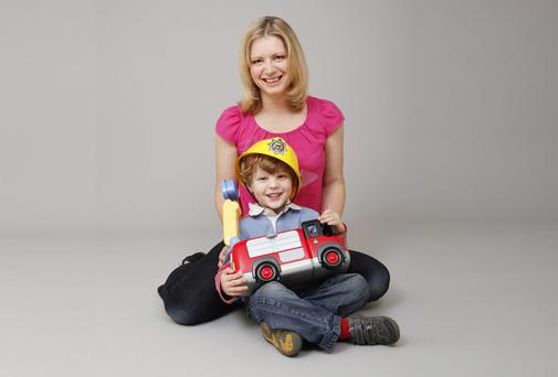 Gaby Hinsliff with her son Freddie