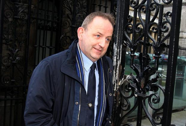 Whistleblower Garda Sgt. Maurice McCabe arriving for the private session of the Dail Public Accounts Committee