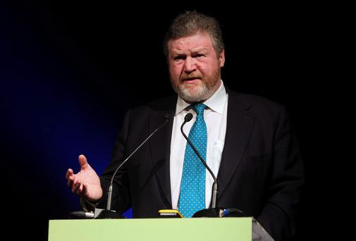 29/3/2013; Minister for Health, James Reilly, T.D., at the launch of Healthy Ireland, a new government framework for action to improve the health and wellbeing of people living in Ireland. Picture credit; Damien Eagers / Irish Independent