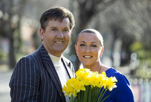Majella and Daniel O'Donnell pictured at the launch of the Irish Cancer Society's 27th Daffodil Day