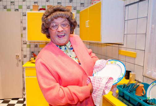 Art imitating life: The quintissential Irish mammy, Mrs Brown, as portrayed by Brendan O'Carroll