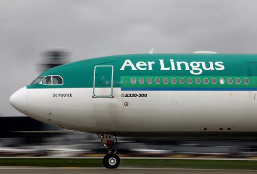 A strike could cause chaos for Aer Lingus on St Patrick's weekend. Photographer: Tim Boyle/Bloomberg