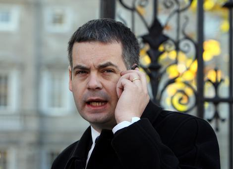Pearse Doherty, Sinn Fein deputy for Donegal South-West at Leinster House. Picture: Tom Burke