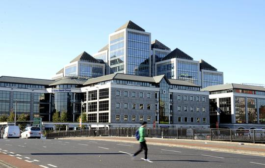 The headquarters of Ulster Bank, a unit of the Royal Bank of Scotland Group Plc (RBS), in Dublin.
