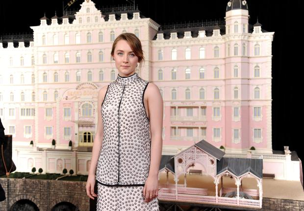 Actress Saoirse Ronan attends the premiere of Fox Searchlight Pictures'