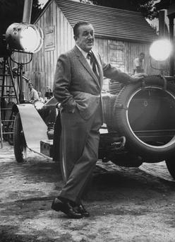 Film producer Walt Disney in his studio. (Photo by John Loengard//Time Life Pictures/Getty Images)