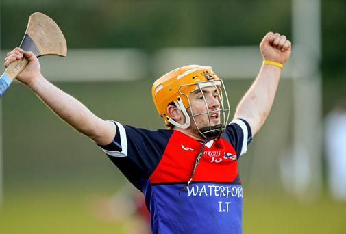 Liam McGrath, Waterford Institute of Technology celebrates at the final whistle