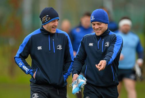 Leinster's Luke Fitzgerald and Ian Madigan
