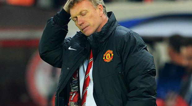 David Moyes endured yet another difficult night watching his Manchester United team against Olympiakos in the Champions League last Tuesday