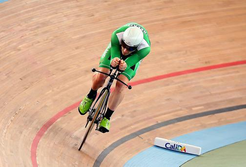 Ireland's Martyn Irvine in action at the World Track Championships in Colombia