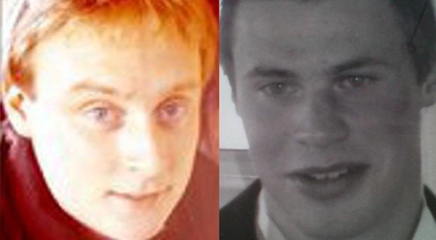 Victims Michael Coleman (top) and Liam Coffey