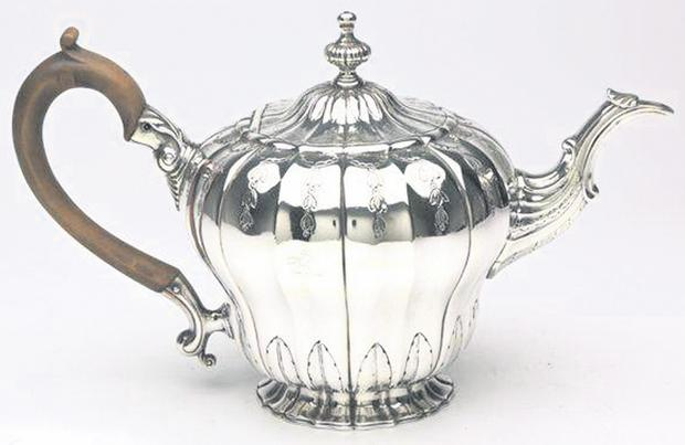 An inverted Cork pear-shaped teapot by Stephen Walshe, 1750