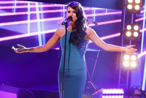 Kasey Smith performs 'Heartbeat' during the Late Late Eurosong special. Picture: Andres Poveda