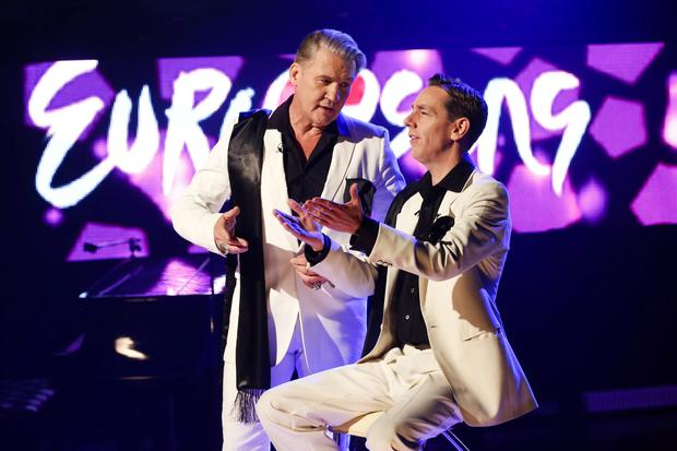 Ryan Tubridy and Johnny Logan ready to go for Eurosong special.