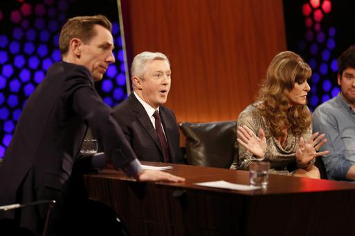 Louis Walsh and Linda Martin react to Billy McGuinness comments on the Late Late Eurosong special.