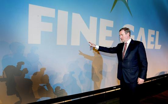 Taoiseach Enda Kenny pictured at the Fine Gael Ard Fheis in the RDS. Picture; GERRY MOONEY. 1/3/14