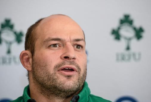 Ireland's Rory Best speaking to the media during a press conference