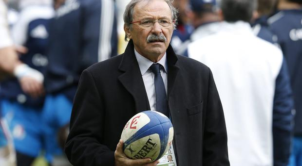 Italy's coach Jacques Brunel