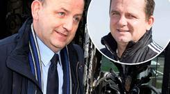 Whistleblower Maurice McCabe and, inset, Clare hurling manager Davy Fitzgerald