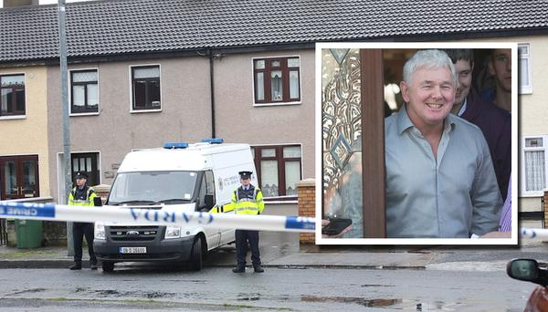 John Gilligan (inset) and the scene in Greenfort crescent where John Gilligan was shot.