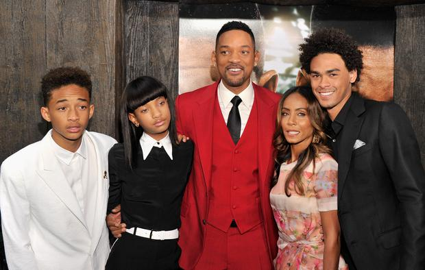 """After Earth"" New York Premiere - Jaden Smith, Willow Smith, Will Smith, Jada Pinkett Smith and Trey Smith"