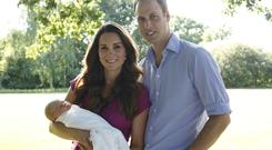 Kate and William with baby George