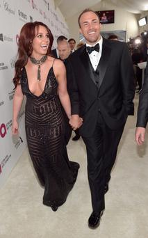 Recording artist Britney Spears (L) and David Lucado attend Neuro at the 22nd Annual Elton John AIDS Foundation Academy Awards Viewing Party at The City of West Hollywood Park on March 2, 2014 in West Hollywood, California. (Photo by Charley Gallay/Getty Images for Neuro)