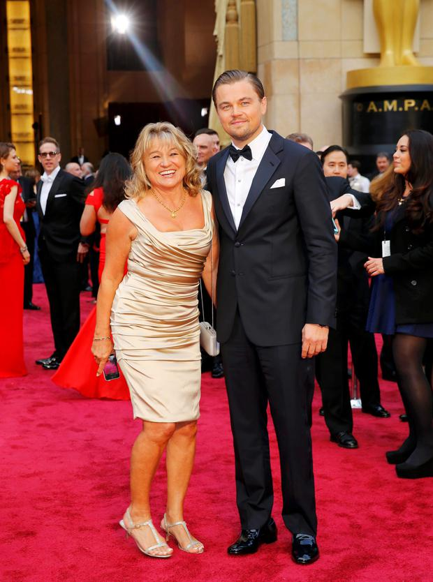 Leonardo DiCaprio and his mother Irmelin DiCaprio