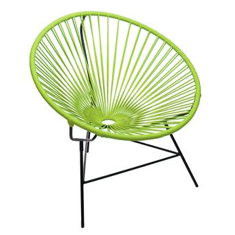 Huatulco 1950s style chair in steel and plastic rope, €239, boqa.fr