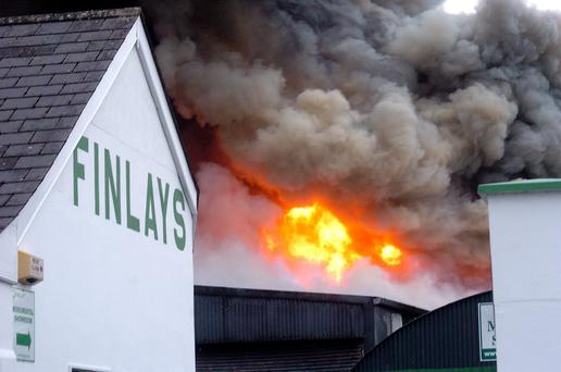 A Major Fire at Finlays Coffin Works in Ardee Co Louth
