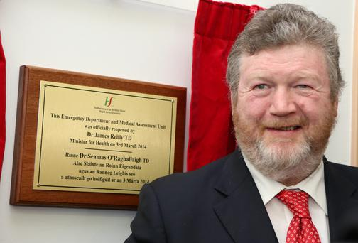 Health Minister James Reilly at the opening of the Emergency Unit at Letterkenny General Hospital. Picture: NWNewspix