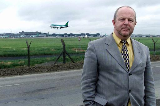 SIPTU representative Dermot O'Loughlin at Dublin Airport