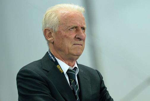 Republic of Ireland manager Giovanni Trapattoni before the game