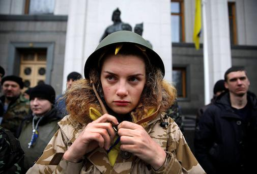 Kiev has been wracked by violence and sparked widespread protests such as this one against President Viktor Yanukovich.