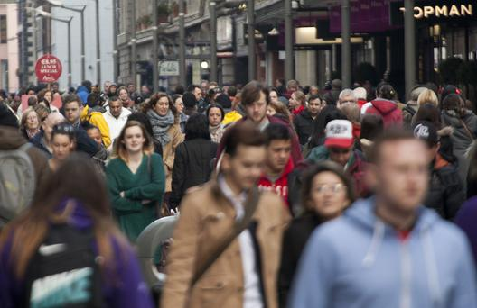 In Ireland, just over a third of people are positive about the state of the national economy