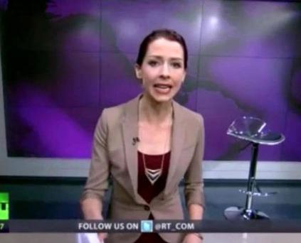 """Abby Martin, who works as a news anchor in Washington, told viewers that """"Russia was wrong"""""""