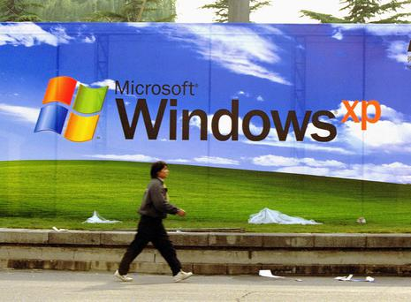 Windows XP is still running on 10 pc of all PCs