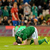 Shane Long reacts after a missed chance on goal.