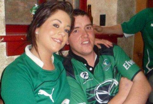 Gary Feeney, pictured with his wife, died in a tragic construction site accident in New York. Photo: James Connolly / PicSell8