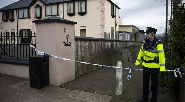 Gardai preserve the scene of alleged in Arklow, Co Wicklow. Photo: Garry O'Neill