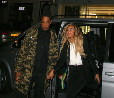 Jay-Z and Beyonce at the Arts club on March 5, 2014 in London, England. (Photo by Mark Robert Milan/FilmMagic)